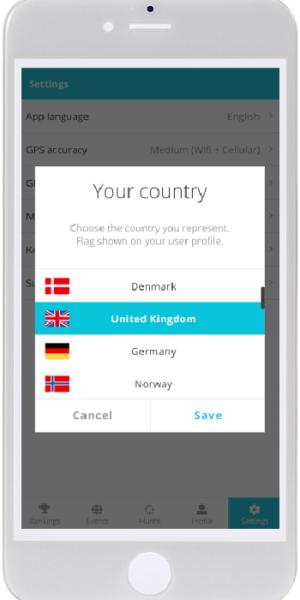 57. Profile - settings - choose country 1